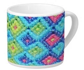 Woven Diamonds Lungo Mug
