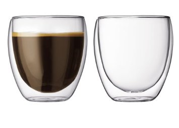 Bodum Pavina 8-1/2-Ounce Double-Wall Thermo Lungo Cups (1/4)