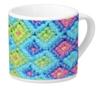 Diamond Weave Pattern on Lungo Mug