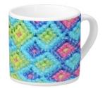 Diamond Weave Pattern on Lungo Mug
