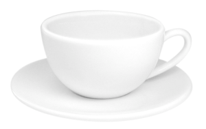 Konitz White Coffee Cup with Saucer