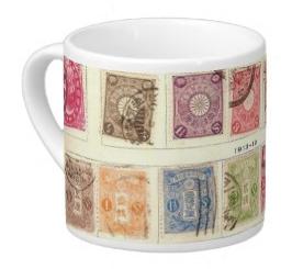 Vintage Japanese Stamps Lungo Mug