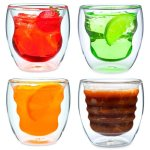 4 Ozeri Double Walled Cups with Beverages