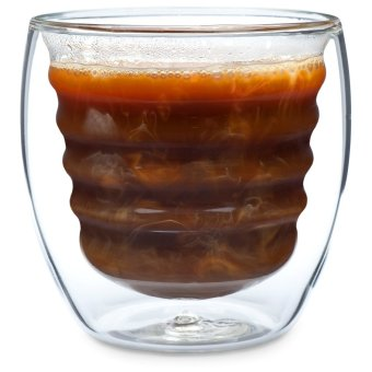 Curva Artisan Double-Walled Glass Cups