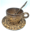 Thai Wooden Coffee Cup