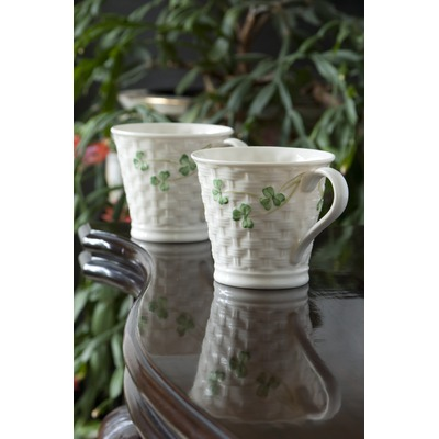 Belleek-Shamrock-Mug-(Set-of-2)