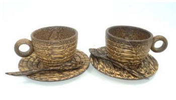 Thai Wooden Coffee Cups