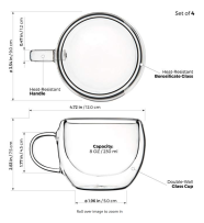 Tealyra coffee cup specs.